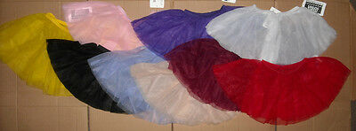 NWT Short Circle Chiffon Skirts Many Colors Adult/Child Sizes 2 Layer Ballet