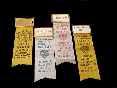 Id'ed Wwi Badges X 4 ~ Baltimore Maryland