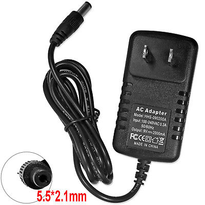 NEW AC 100-240V Converter Adapter DC 9V 2A 2000mA Charger Power Supply US
