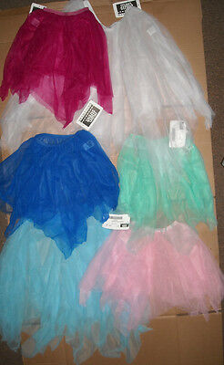 NWT DANCE CHIFFON 2 Layer Pointed Hem Ch/ Adult  BALLET SKIRTS MANY COLORS
