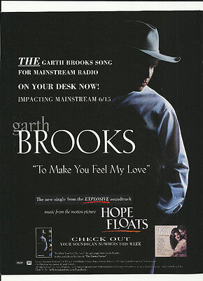 GARTH BROOKS To Make you feel My love & SPARKLE TRADE AD POSTER for 1998 CD