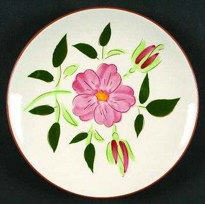 """Stangl Pottery WILD ROSE 6"""" Dessert Plate Pink Flower Hand Carved & Painted NICE"""