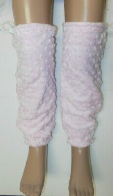 NWT CHENILLE Legwarmers Dance Skate SUPESoft Warm Leg Cover Bungee Closure GIRLS