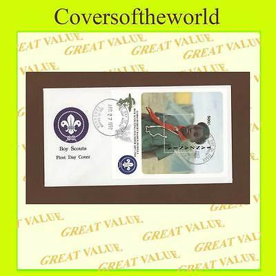 Tanzania 1992 Scouts mini sheet First Day Cover