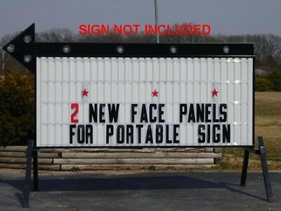"New 40"" X 8' Changeable Flexible Letter Outdoor Marquee Readerboard Sign Faces"