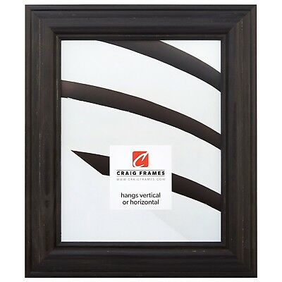 Craig Frames American Classic, Weathered Black Wood Picture Frame