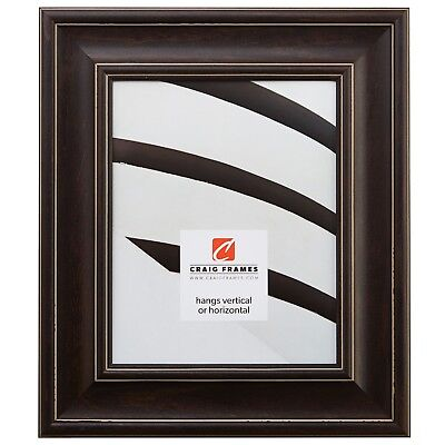 Craig Frames Colonial, 2.5 Weathered Brown Wood Picture Frame