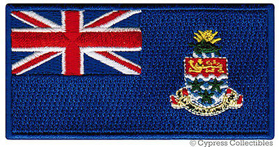 CAYMAN ISLANDS FLAG embroidered iron-on PATCH CARIBBEAN EMBLEM