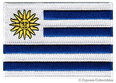 URUGUAY FLAG embroidered iron-on PATCH URUGUAYAN SOUTH AMERICAN EMBLEM