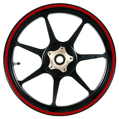 Deep Red 16 to 19 inch Motorcycle, Scooter Wheel Rim Stripes 6mm wide