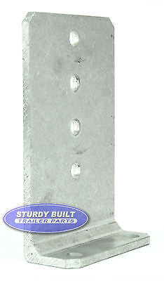 "(2) 8"" Aluminum 1/4"" Thick Boat Trailer Bunk Board L Type Brackets 5"" Wide"