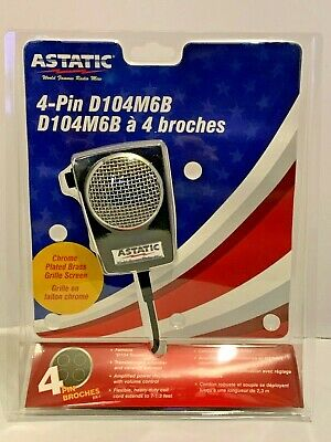 ASTATIC D104 MINUTEMAN II POWER MIC MICROPHONE - NEW - wired to fit your radio