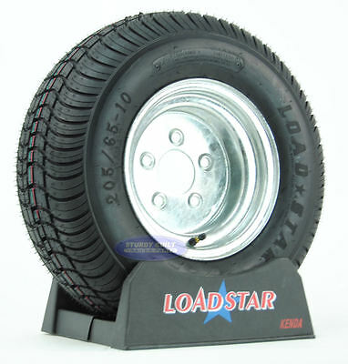 (2)- Boat Trailer Tires Load Star 20.5x8-10 205/65-10 LRC 5 Bolt Galvanized 10""