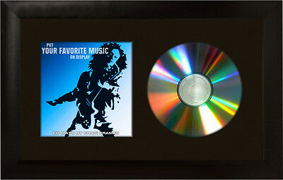 """7x12 Single CD Wall Display Mat and Solid Black 1"""" Wide Frame"""