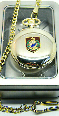 The Royal Engineers Sapper Private Badge Army Military Pocket Watch Chain Gift