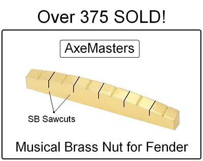 AxeMasters SB Concept BRASS NUT made for Fender Strat Tele Guitar