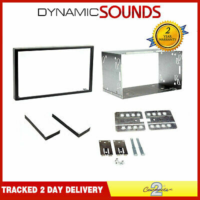 DFPK-103 Universal 103mm CD Stereo Double Din Black Fascia Panel Fitting Kit