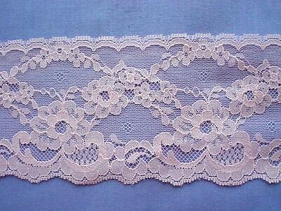 80mm Pink Nylon Lace Edging (x 3 metres)