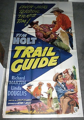 TRAIL GUIDE original large 3-sheet movie poster TIM HOLT 1952 RKO