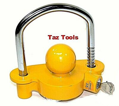 """Heavy Duty Universal Coupler Hitch Trailer Lock fits 1-7/8"""", 2"""", and 2-5/16"""""""