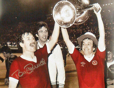TOMMY SMITH SIGNED LIVERPOOL 16x12 EUROPEAN CUP 1977 PHOTO COA PROOF KOP LEGEND