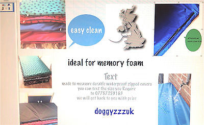ideal for  memory foam  blue waterproof durable dog bed cosey SPARE DOG COVER