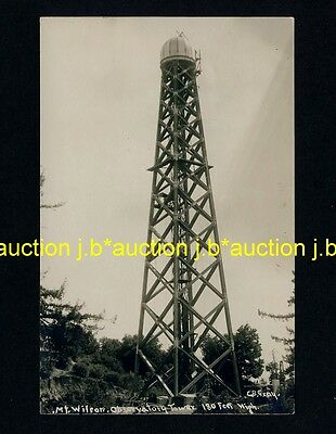 USA MOUNT WILSON OBSERVATORY TOWER CA * Vintage 1920s Real Photo PC