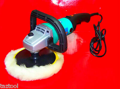 "7"" Electric Car Polisher Buffer Sander with Pad & Bonnet Variable 6 Speed"