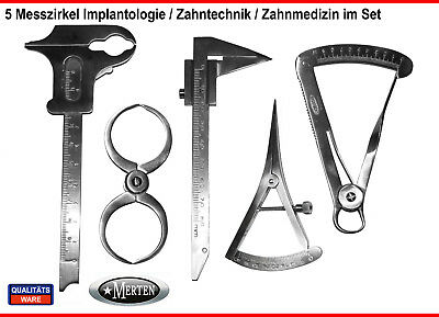 Dental Measurement Set Caliper Dentist  -  Castroviejo / Boley / Iwanson