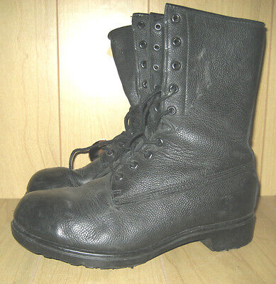 GENUINE CANADIAN ARMY PEBBLED LEATHER COMBAT BOOTS UNLINED womens/mens