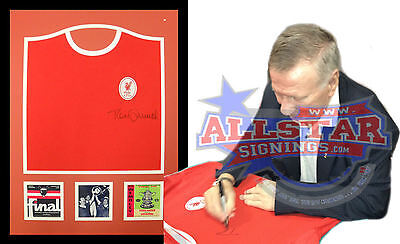 Framed Tommy Smith Signed Liverpool Shirt See Proof