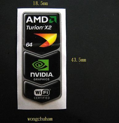 AMD Turion x2 64 NVIDIA GRAPHICS WiFi CERTIFIED Sticker