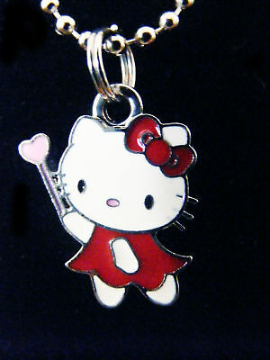 Hello Kitty Red dress fairy princess Chained Necklace