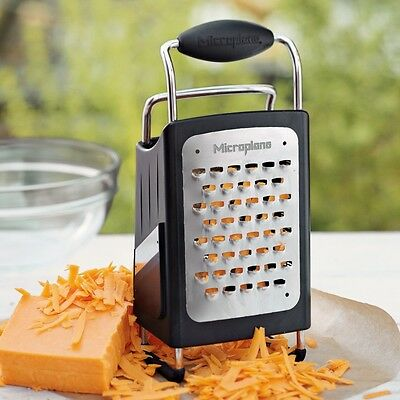 New Microplane #1 Top Rated 4 Sided Box Grater Zester Slicer Stainless Steel USA