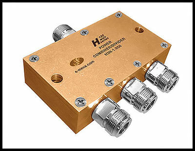 1 new MECA H3N-1.950, 1.7-2.2 GHz 120W, 3-Way Power Divider, N-Female Connector.