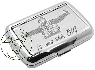 Tobacco Tin Fishing 'It Was This Big' Personalised FREE
