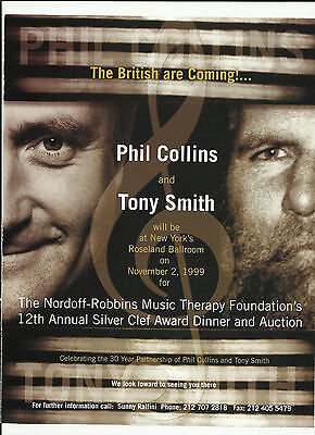 Genesis PHIL COLLINS British are Coming TRADE AD Poster 1999 MINT