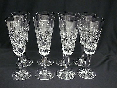 Set of 8 Lenox CHARLESTON Fluted Champagne Glasses, 2nds