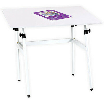 "White Adjustable Folding 30"" x 42"" Drawing Table Desk 