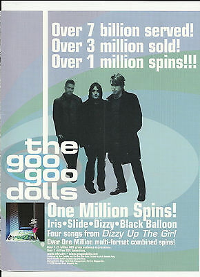 GOO GOO DOLLS & ROSIE O'DONNELL Christmas TRADE AD Poster for 1999 CD MINT