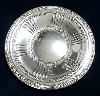 "Sterling 9-1/2"" Fancy Plate By Gorham, Shreve, Crump & Low Co Vintage"