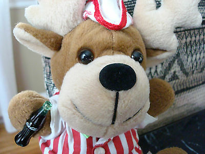 COCA-COLA*Stuffed/Plush/Bean Bag Toy*Deer w/Coke Bottle*CAVANAGH GROUP*Unique!!!