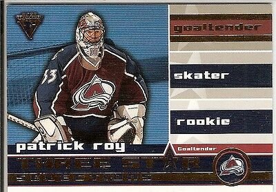 Patrick Roy  01/02 Private Stock Titanium  Three Star Selections - Insert