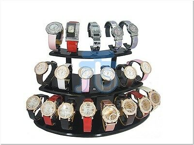 Black Plastic Acrylic Display Watch Holder Stand Rack