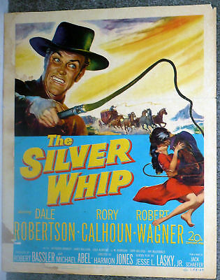 THE SILVER WHIP Orig Western Poster ROBERT WAGNER/DALE ROBERTSON/RORY CALHOUN