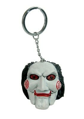 New Official Licensed Saw Film Puppet Billy Halloween Keyring Keychain Head Gift