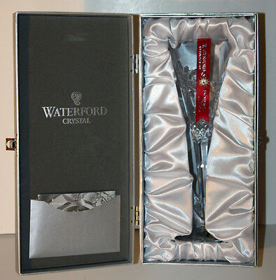 "WATERFORD ""Snowflake Wishes"" JOY Toasting Flute Clear Crystal 1st Edition 154357"