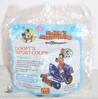 RARE 3 Diff 1988 McDonalds MICKEY MOUSE 50th B-DayTOYS