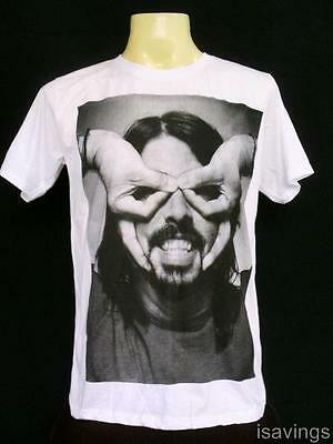 DAVE GROHL Foo Fighters T-shirt, ROCK WHITE Cotton S M & L Unisex, Music Grunge