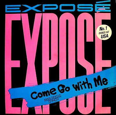 """12"""" - Exposé - Come Go With Me (Electro) SPANISH PRESSING - MINT LISTEN - NUEVO"""